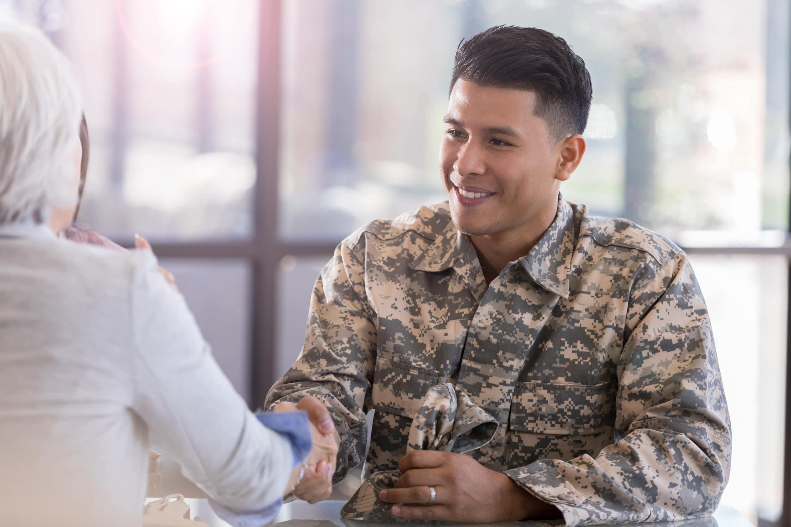 Military member on interview for civilian job