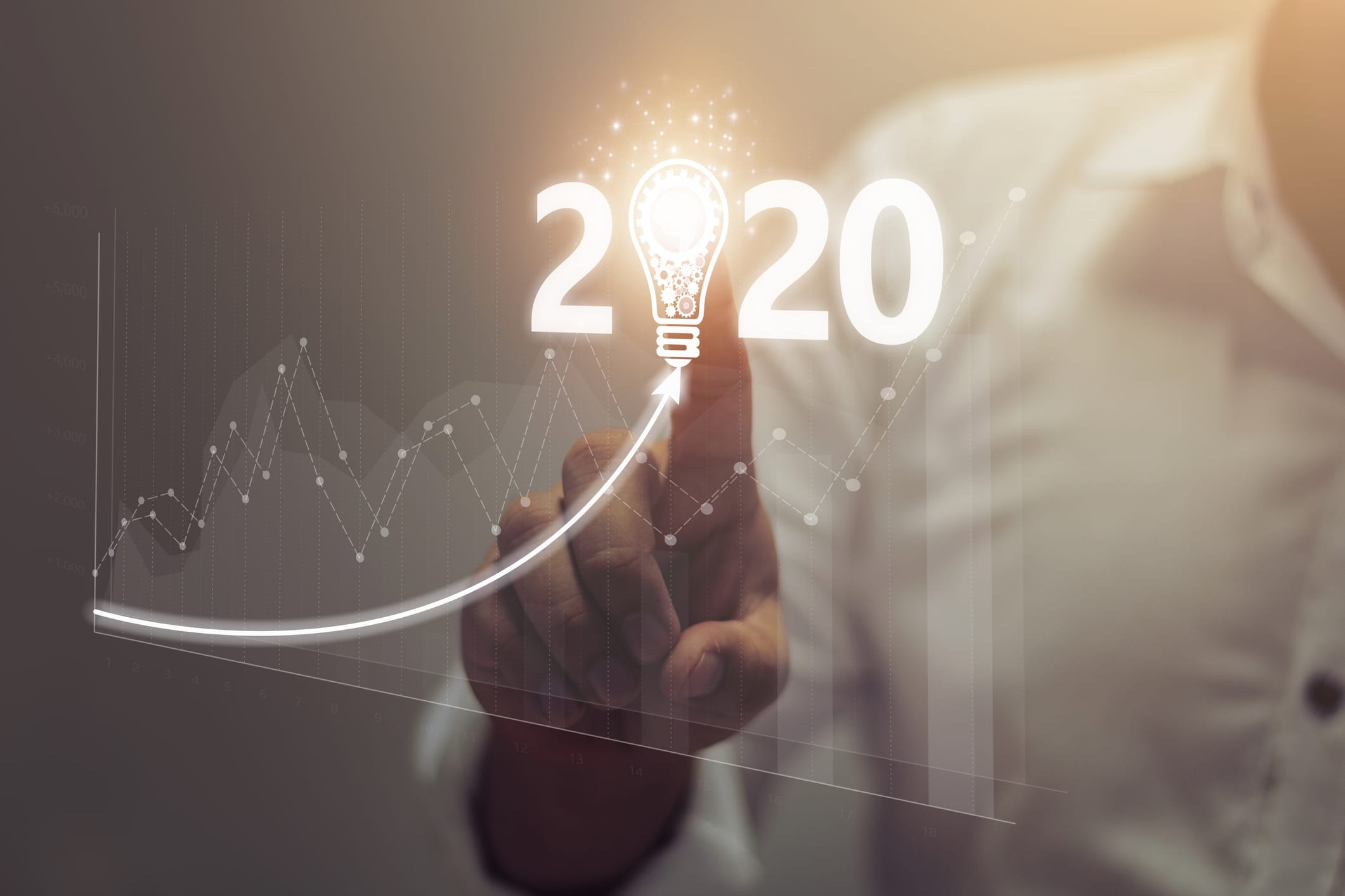2020 with business trend.creativity to success.technology transformation